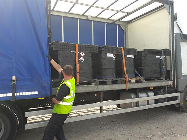 hazardous waste transported